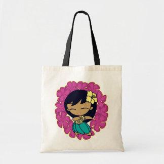 """""""Aloha Honeys"""" Tote Bags in Fuchsia"""