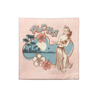 Aloha Hula Girl Cocktail Napkin