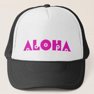 Aloha in Pink Flowers Trucker Hat