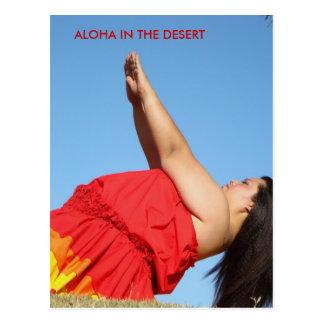 Aloha in the desert ~ Kawena ~ Postcard
