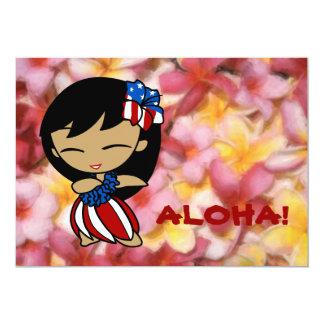 Aloha invitations hawaïennes de Plumeria de miels