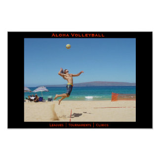 Aloha Jump Serve Poster