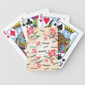 aloha, kauai, hawaii, oahu, maui, lanai background poker deck