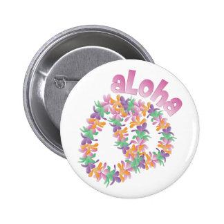 Aloha Lei 2 Inch Round Button