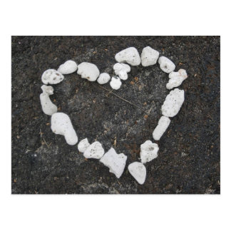 Aloha * Love * Coral Heart - Customizable! Postcard