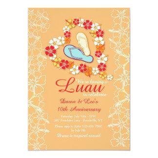 Aloha Love Luau Anniversary Invitation