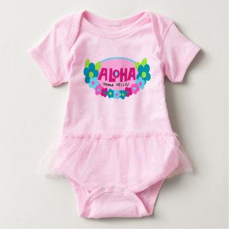 Aloha Means Hello Hawaiian Floral Baby Bodysuit