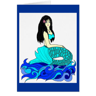 Aloha Mermaid note card