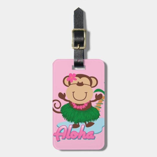 Aloha Monkey Luggage Tag