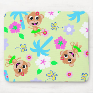 aloha monkey print mouse pad