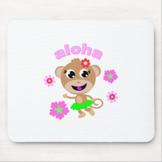 aloha monkey screen. mouse pad