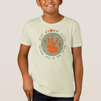 Aloha multi-language 'hello' hand print  Shirt
