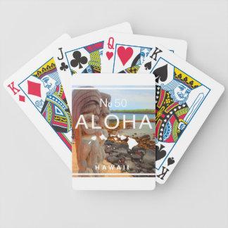 Aloha No 50 Tiki Bicycle Playing Cards
