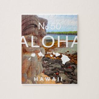 Aloha No 50 Tiki Jigsaw Puzzle