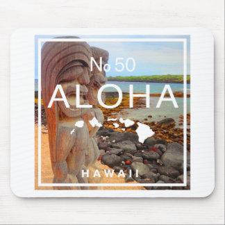 Aloha No 50 Tiki Mouse Pad