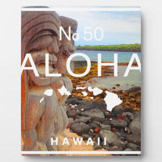 Aloha No 50 Tiki Plaque