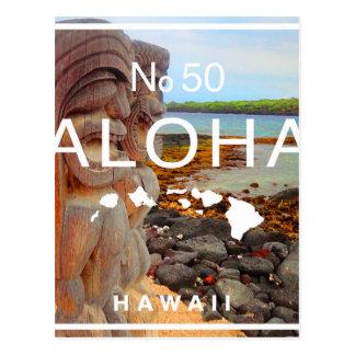 Aloha No 50 Tiki Postcard