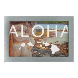 Aloha No 50 Tiki Rectangular Belt Buckles