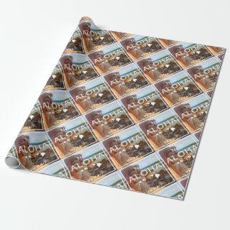 Aloha No 50 Tiki Wrapping Paper