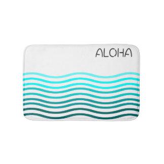 Aloha ombre waves bath mat