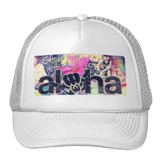 Aloha Paradise Trucker White Out Trucker Hat