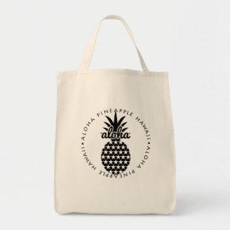 aloha pineapple hawaii shoppingbag tote bag