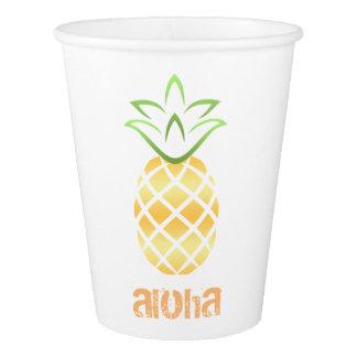 Aloha Pineapple Luau Beach Party Paper Cups