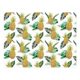 Aloha Pineapple Postcard