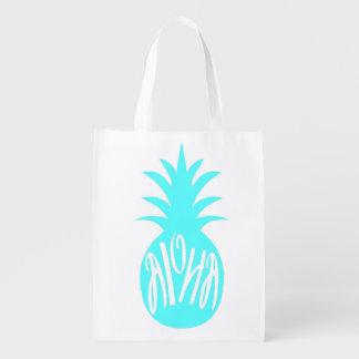 Aloha Pineapple Tote Bag Reusable
