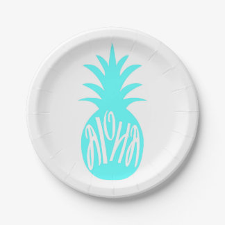 Aloha Pineapple Towel Paper Plate