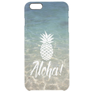 Aloha Pineapple Tropical Beach Clear iPhone 6 Plus Case