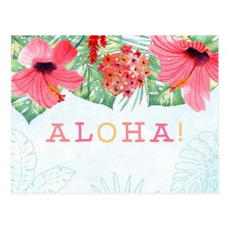 aloha postcard, aloha greetings card postcard