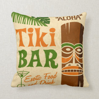 Aloha Poster Throw Pillow