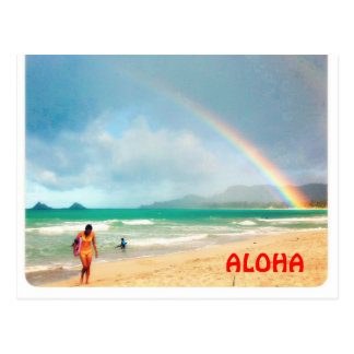 Aloha Rainbow Postcard