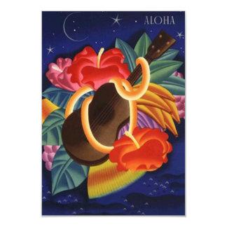 Aloha Save the Date Tropical Night Hawaiian Hawaii Card