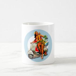 Aloha Scooter Girl Mod Roundel mug