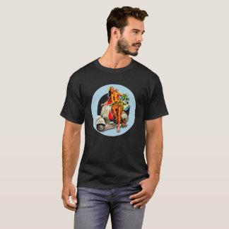 Aloha Scooter Girl Mod Target black T-Shirt