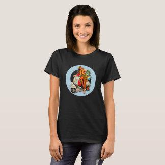 Aloha Scooter Girl Mod Target ladies black T-Shirt
