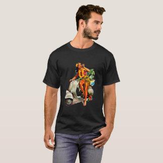 Aloha Scooter Girl Pin-Up T-Shirt