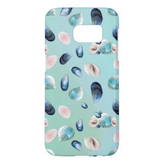 Aloha SeaShell Sea Shell Pearl Pattern Samsung Galaxy S7 Case