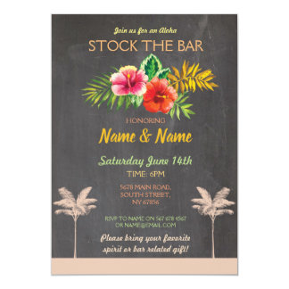 Aloha Stock The Bar Luau Tiki Engagement Invite