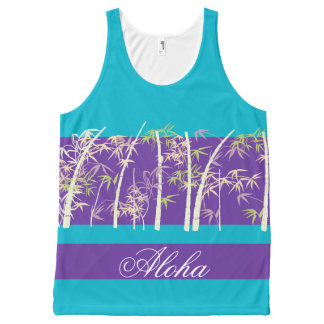 Aloha summer tropical vacation purple