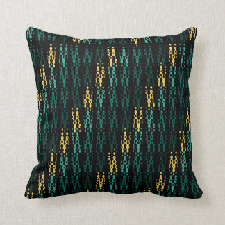 Aloha Sunset Dither Black and Yellow Love Pillow