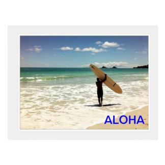 ALOHA Surfer Postcard