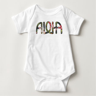 Aloha Tropical Black Baby Bodysuit