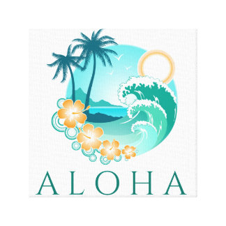 Aloha Tropical Canvas Print