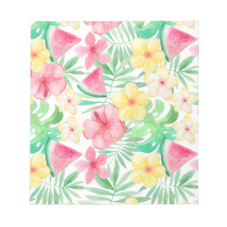Aloha Tropical Exotic Flowers and Fruits Notepad