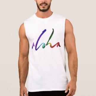 Aloha - Tropical Hand Lettering - Hawaii Hawai'i Sleeveless Shirt