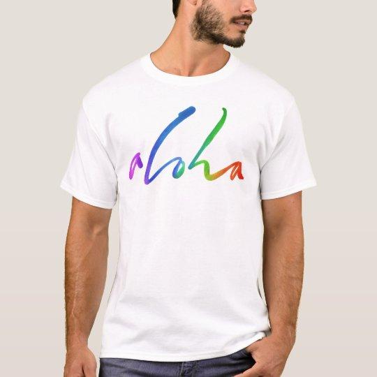 Aloha - Tropical Hand Lettering - Hawaii Hawai'i T-Shirt