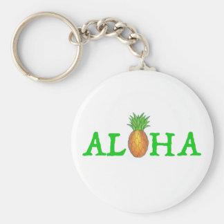 ALOHA Tropical Hawaii Hawaiian Pineapple Keychain